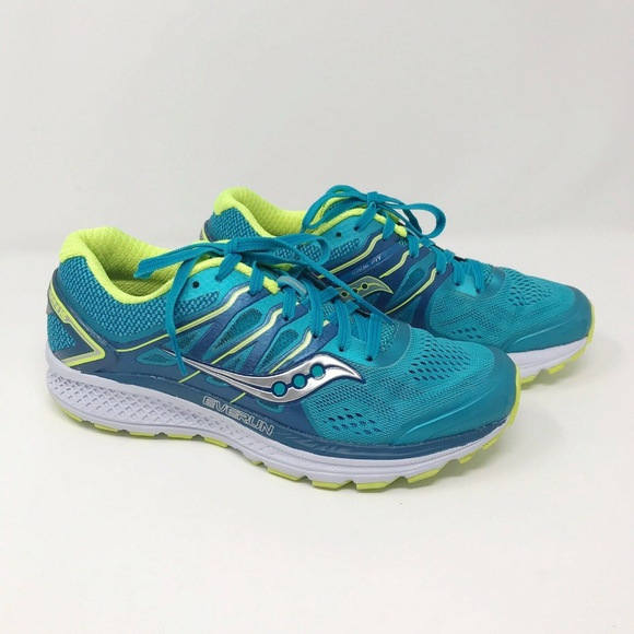 Saucony Womens Omni 16 Running Shoes Teal Citron